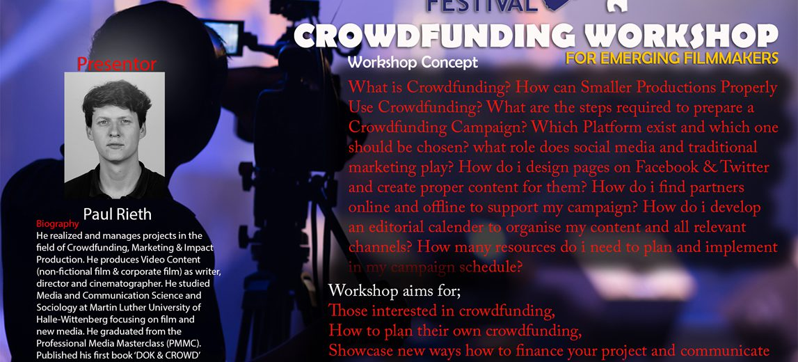 crowd funding web and Social media poster