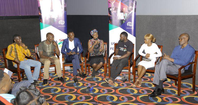 Nisha Kalema addressing the media at the 2018 opening ceremony on Monday